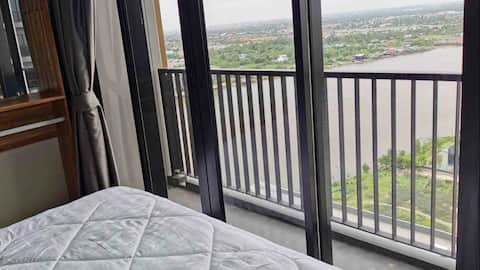 New Riverside Condo+River View+Near MRT+Fitness