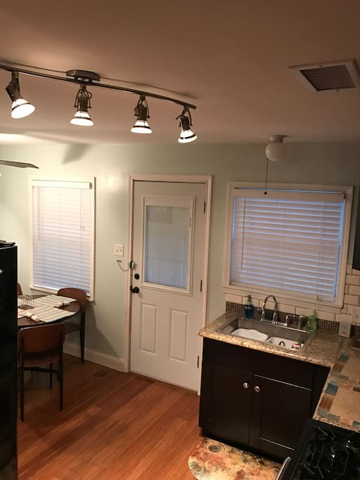 This is the kitchen and dining area.