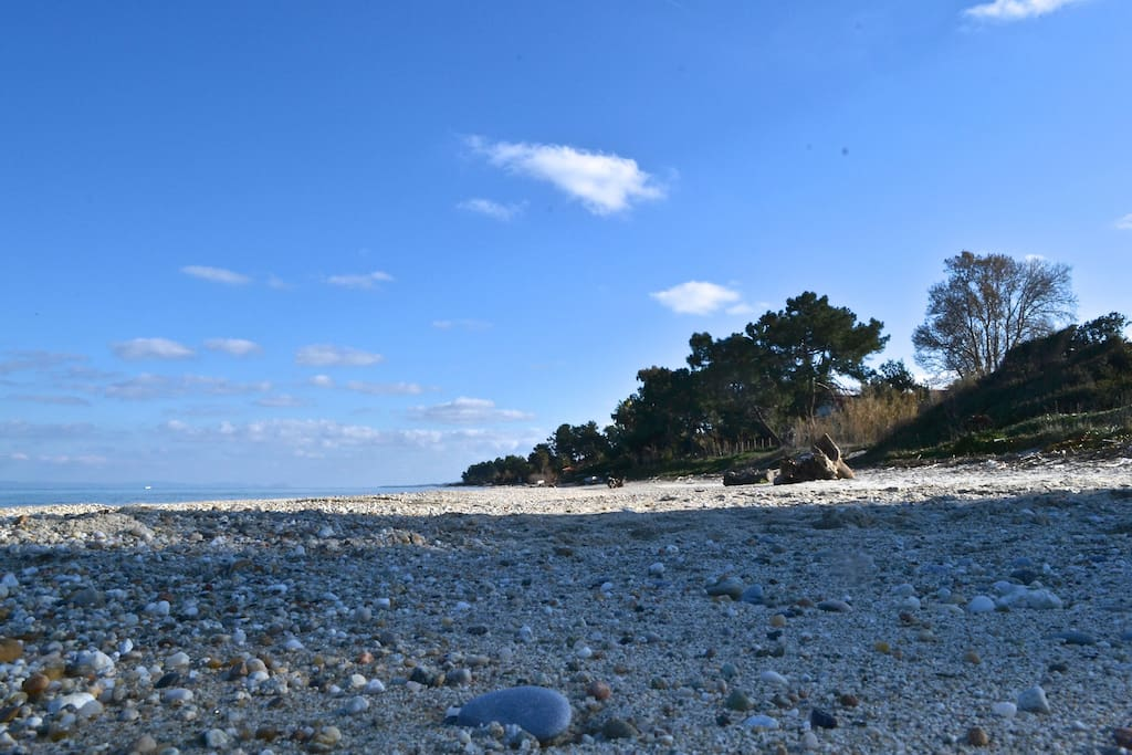Sand wherever you look and blue - green sea with perfect waters. Welcome to Halkidiki!