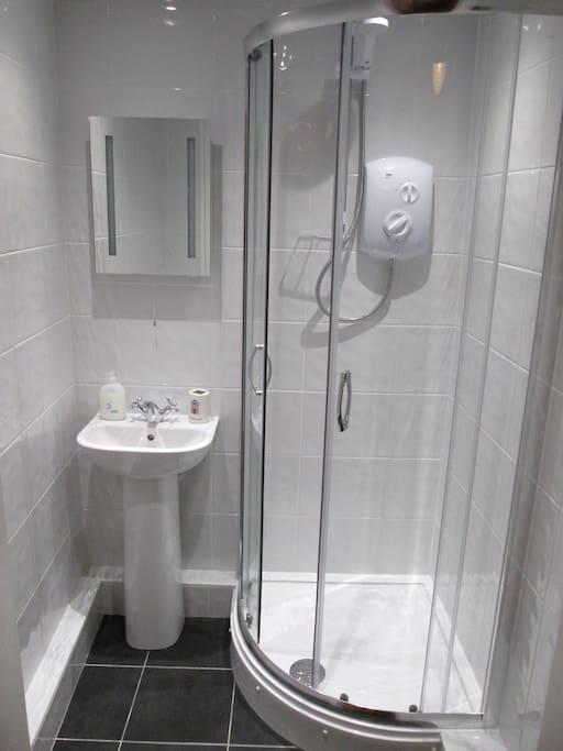 The brand new bathroom.