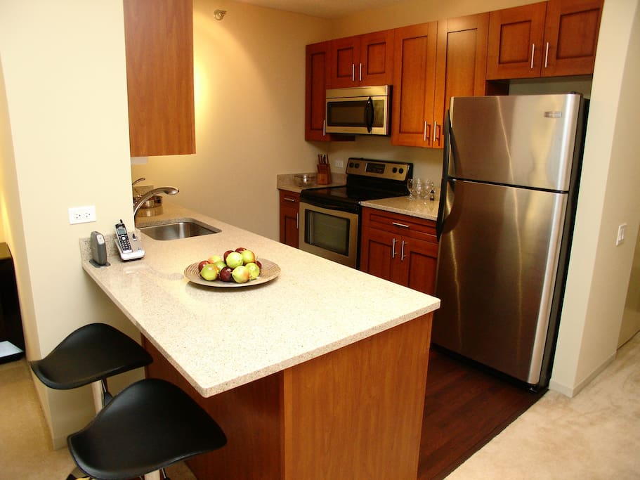 Luxury Kitchen with all Kitchen Items