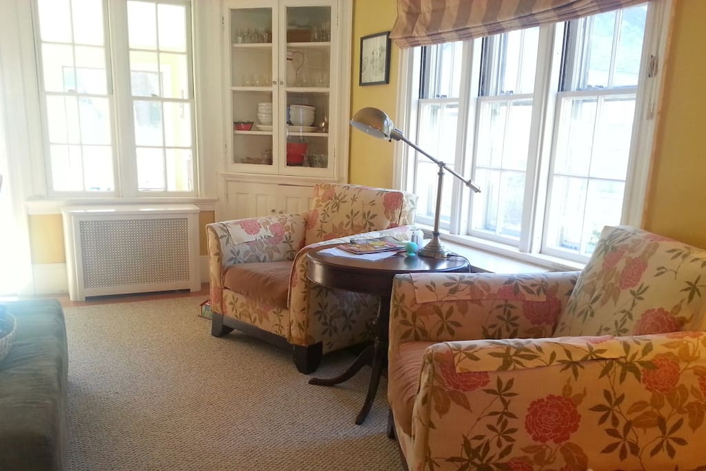 Family room, right between the sun and dining rooms for great flow.