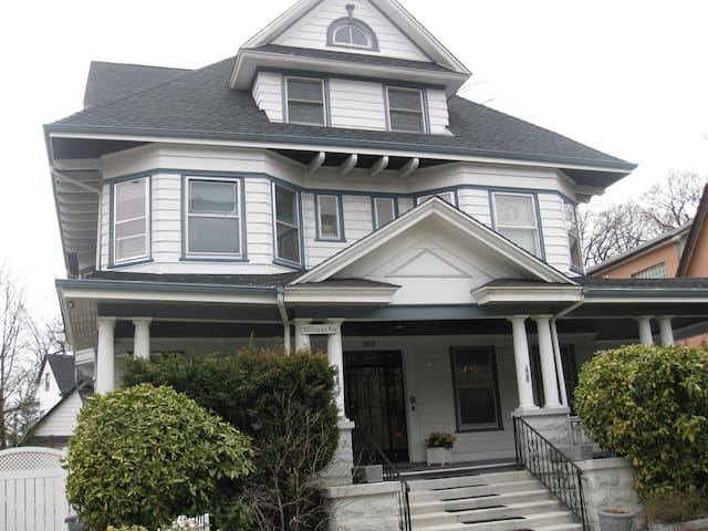 We are a landmarked historic home built in 1906. Ditmas Park is a special neighborhood filled with these types of homes, something you won't find anywhere else in NYC.