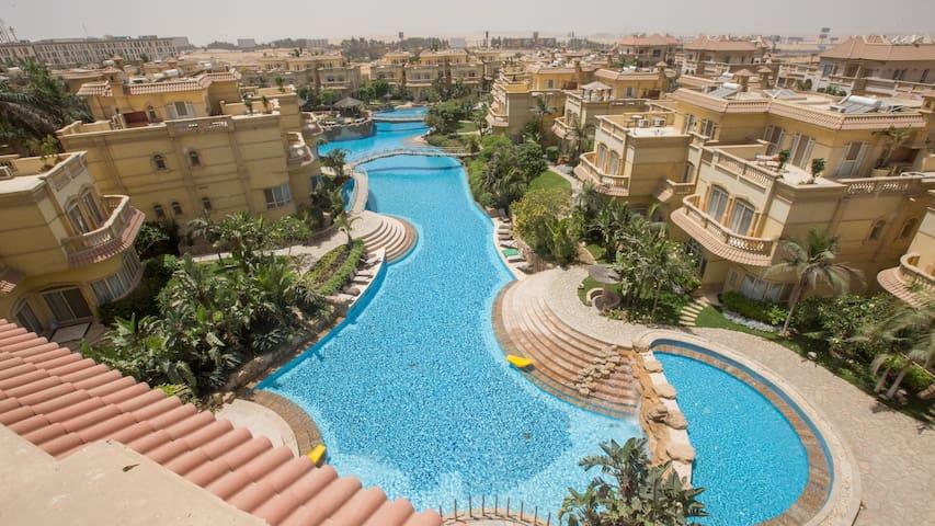 2 Bedroom apartment pool view at El Safwa Resort