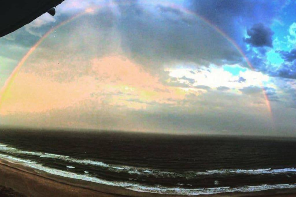 Rainbow from the balcony