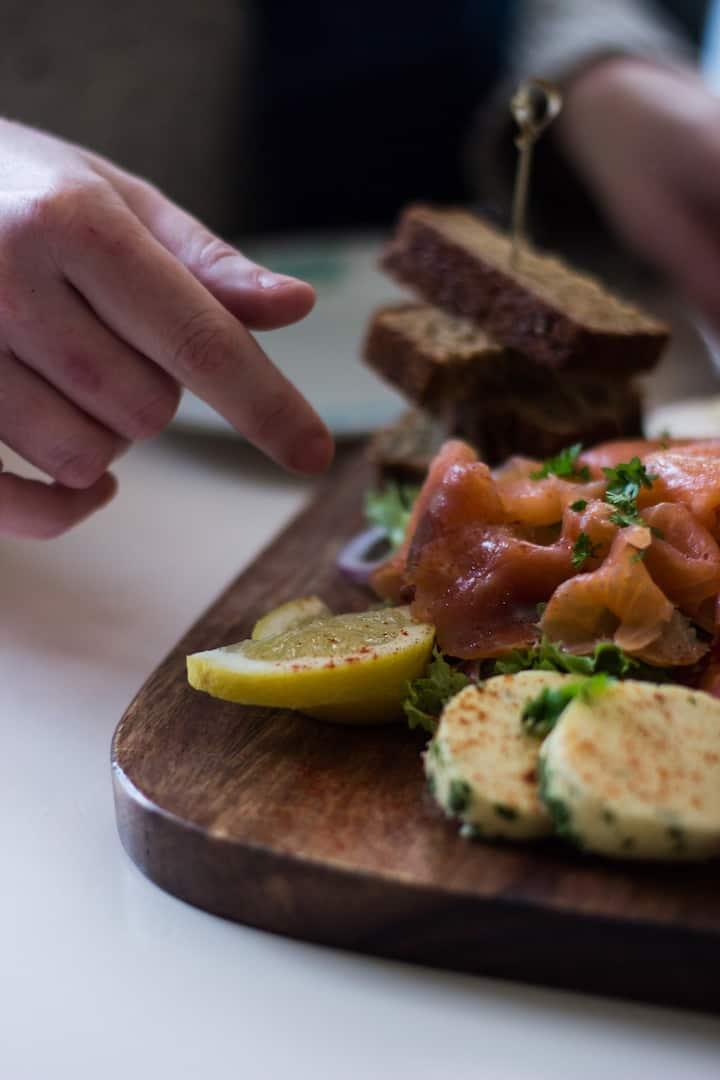 Local and organic Smoked Salmon