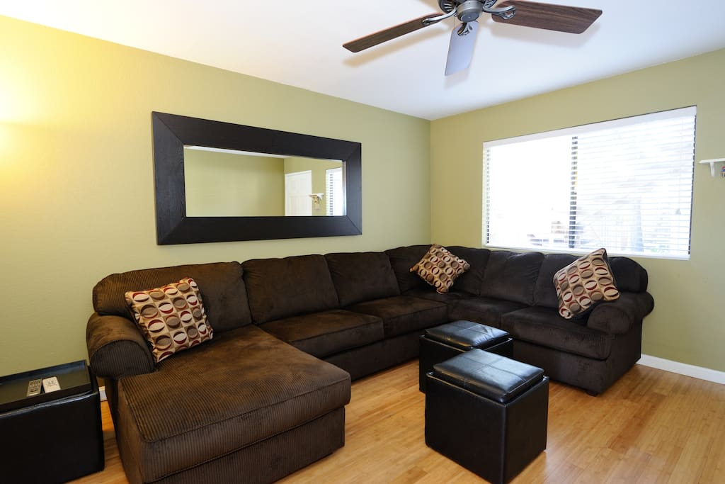 Living room with complimentary high speed internet, TV/DVD.