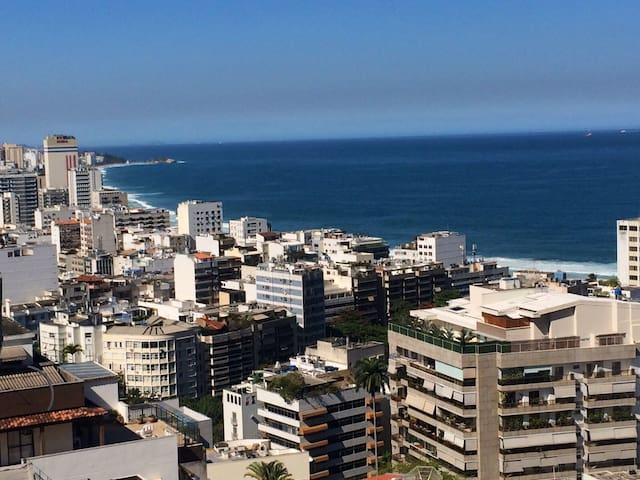 view from the house, Ipanema e Leblon beaches