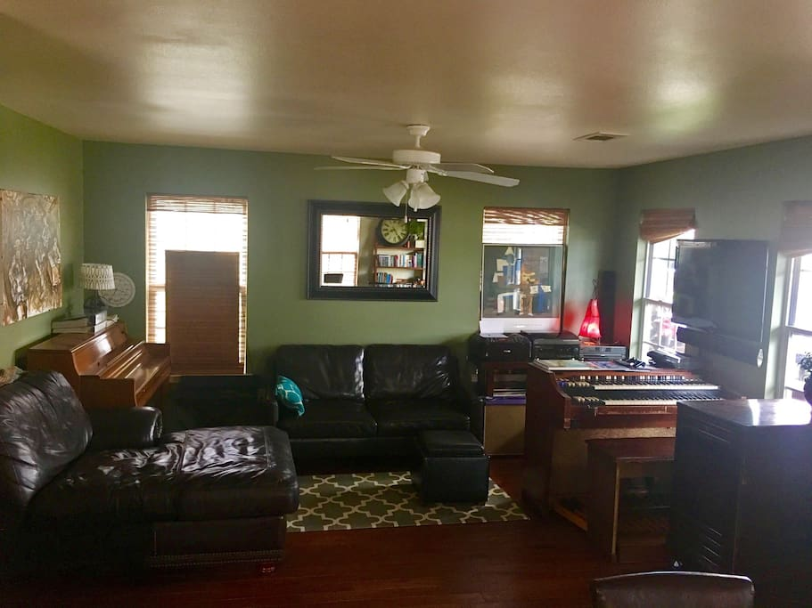 Half of front living room