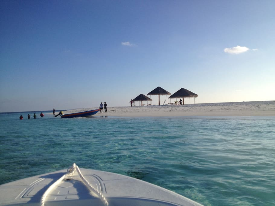This is a sand bank, our guests will use as a beach
