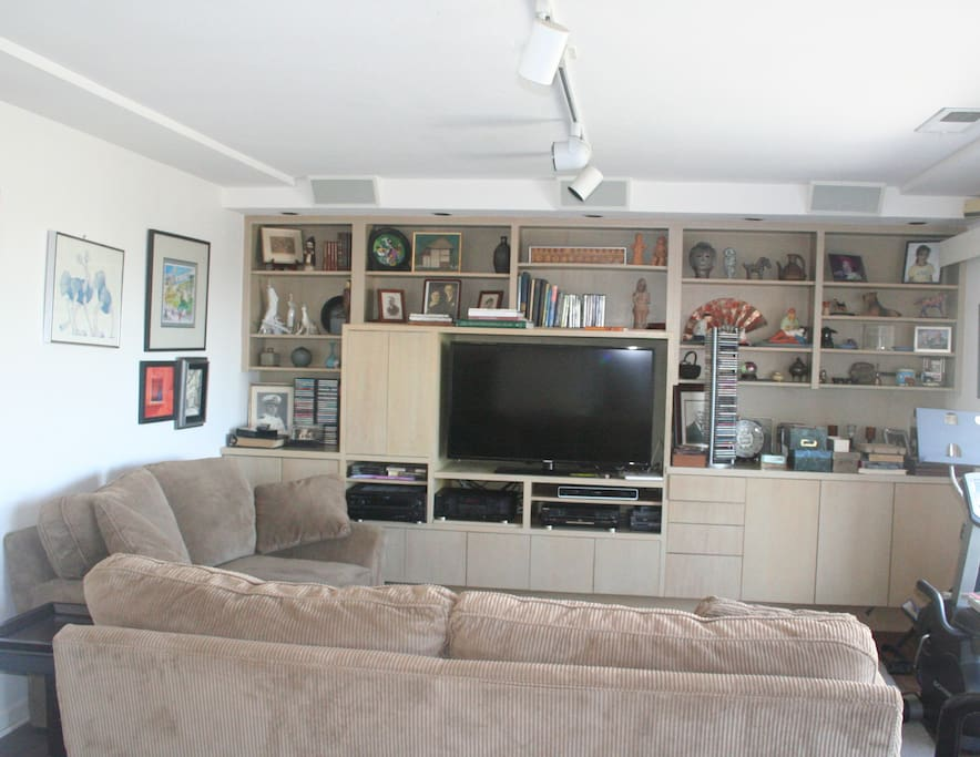 Den with Smart Television, dvd player, Netfix access