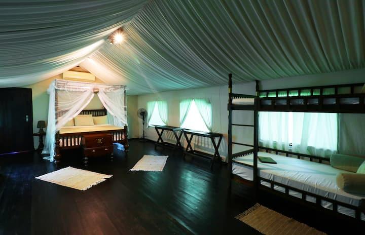 Luxury Family Tent - AI with Daily Safari