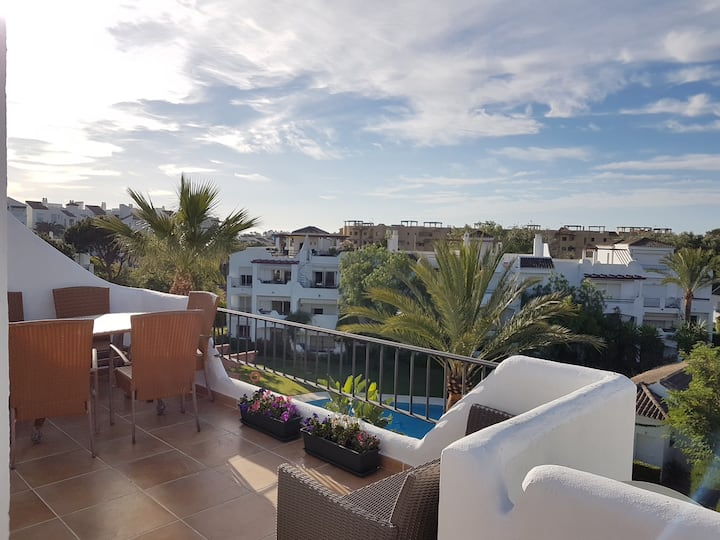 Beachside new apartment in Cancelada, Estepona