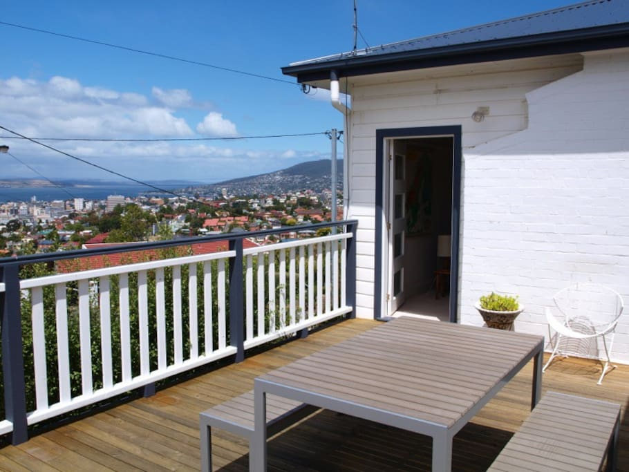 Sit out on the deck and enjoy the sunshine, the amazing views  and some of the freshest air on the planet
