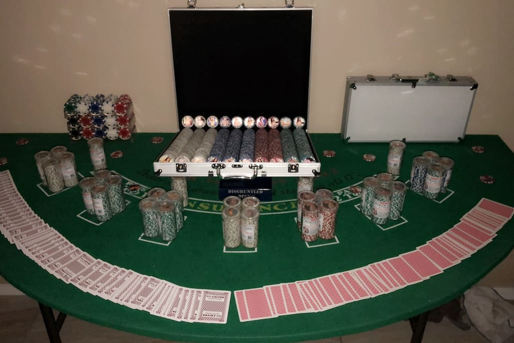 The blackjack table. This is also where the magic happens.