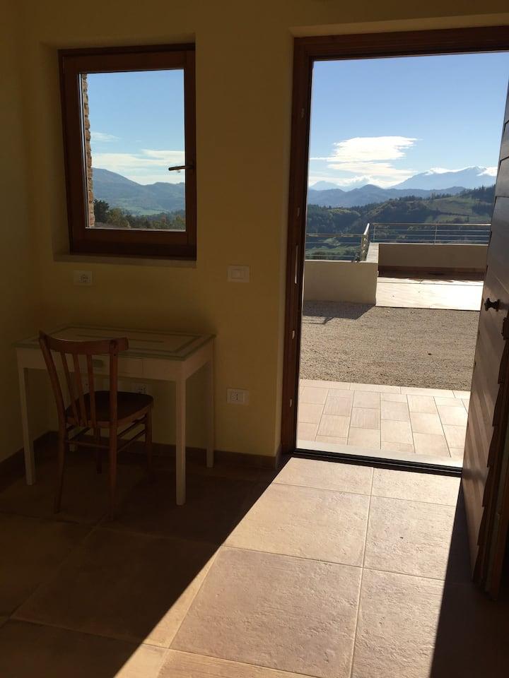 Green B&B Urbino - Ca' del vento Camera con vista☀️