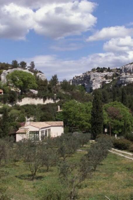Une serre aux baux de provence maisons louer les - Chambres d hotes aux baux de provence ...