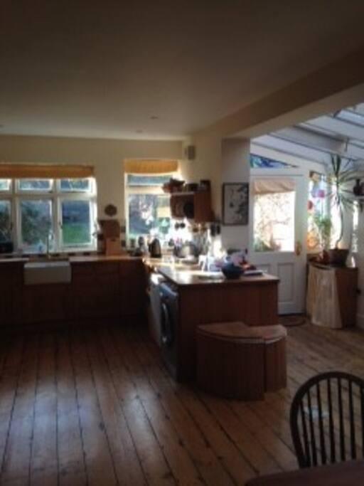 Big light kitchen