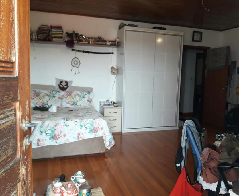 Vista do quarto pela porta da sacada!