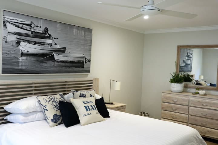 Room 2 - oversized king bed.