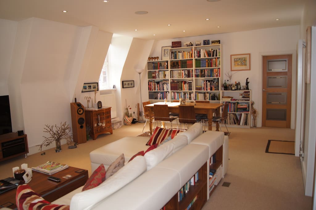 The living area is light and spacious