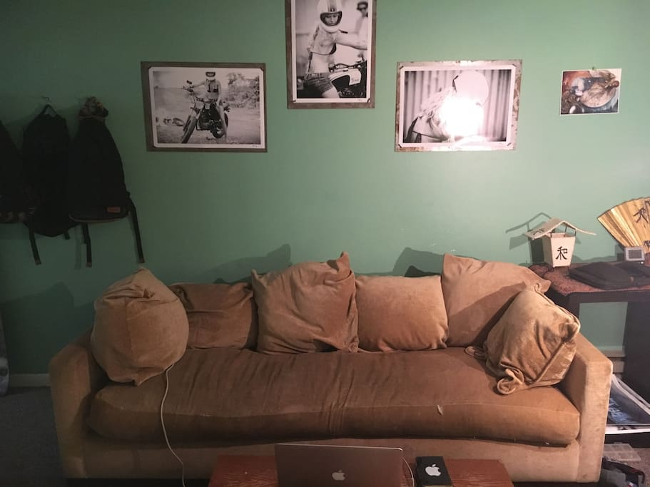 Feather bed couch, works to sleep 1.