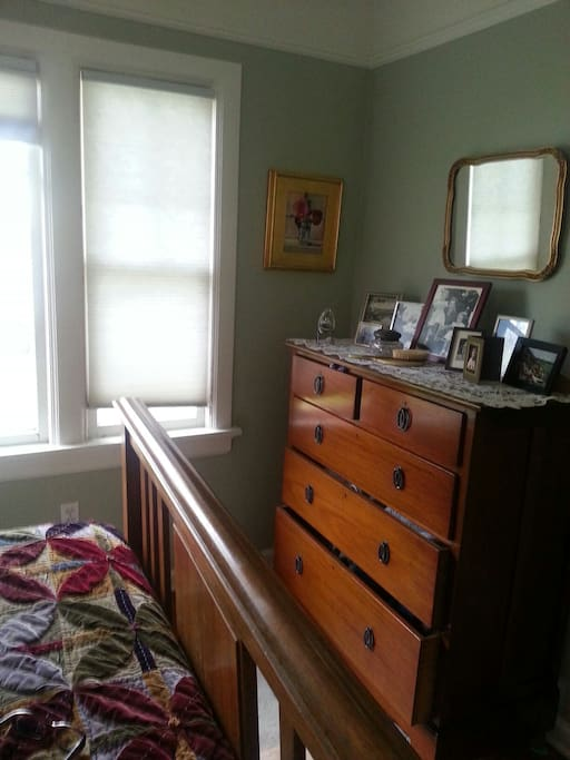 dresser in bedroom