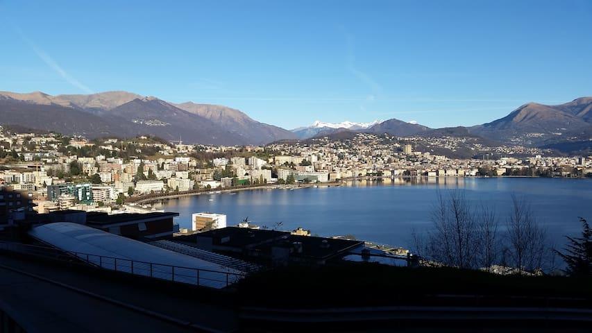 app. con vista fantastica sul golfo di Lugano