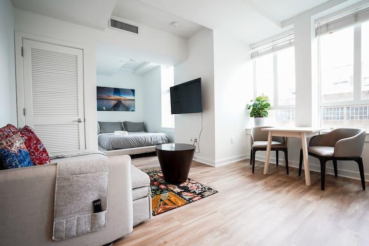 Top Floor Luxury Studio in Center City High-Rise