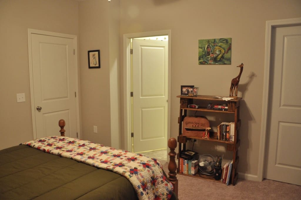 The middle door leads to your en suite bathroom.