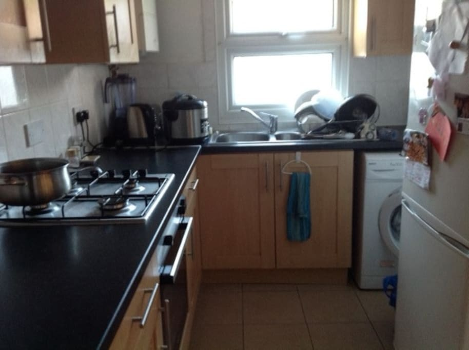 Fully equipped kitchen, and use of washing machine available.
