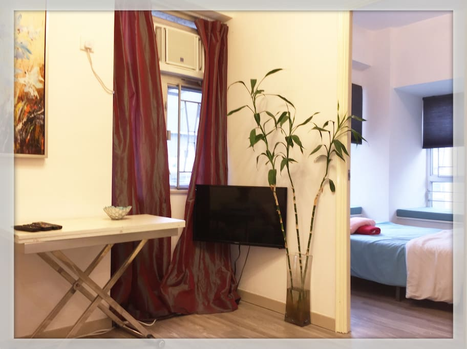 A bright and lively setting with spacious window view...