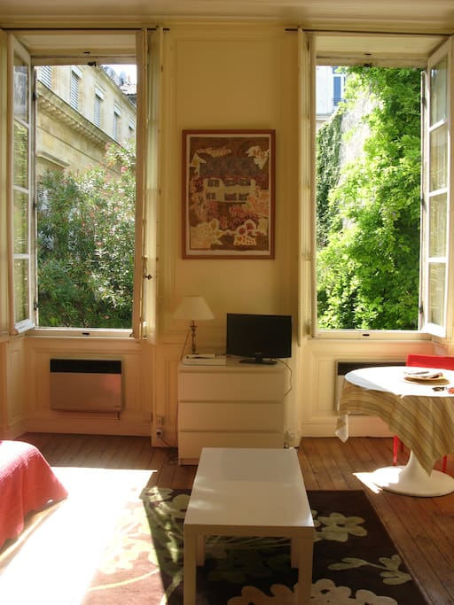 Apt jardin public charme du 18eme appartements louer for Location appartement jardin bordeaux