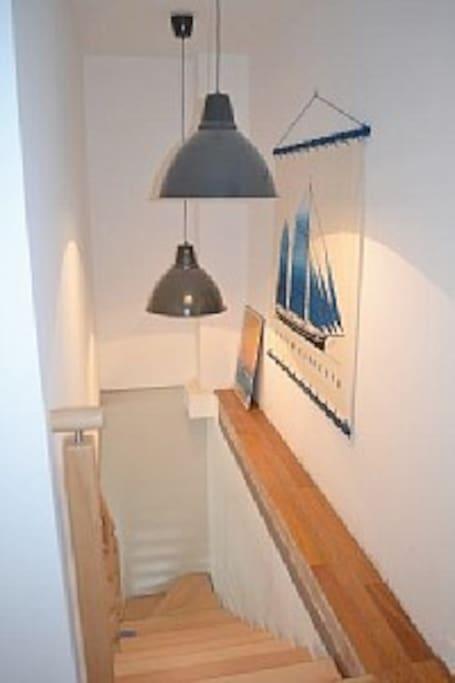 Un escalier clair et déco