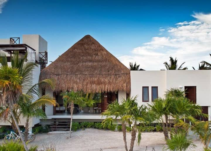 Secluded Beachfront Villa in Sian Ka'an, Tulum