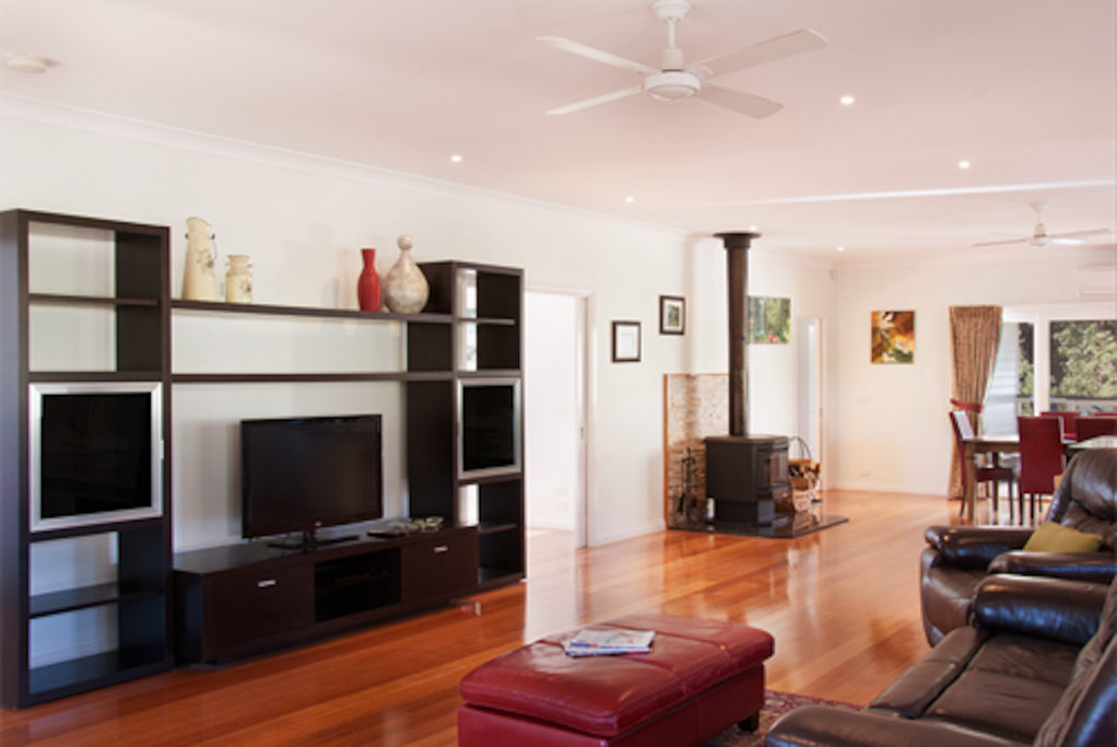 Living and entertainment area.