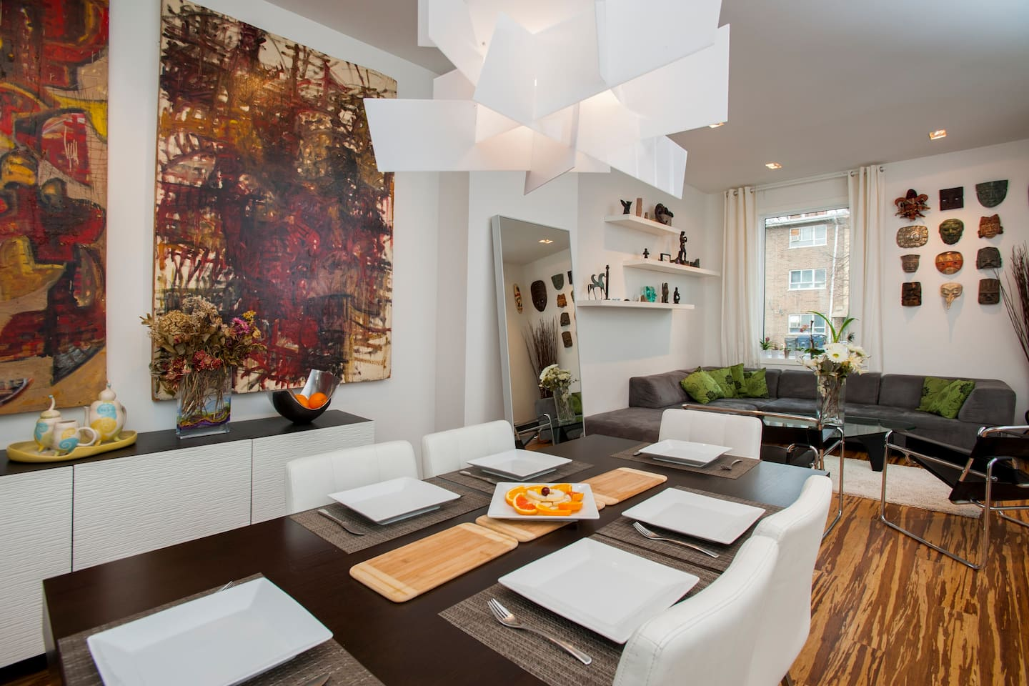 Stylish Downtown Dining Room