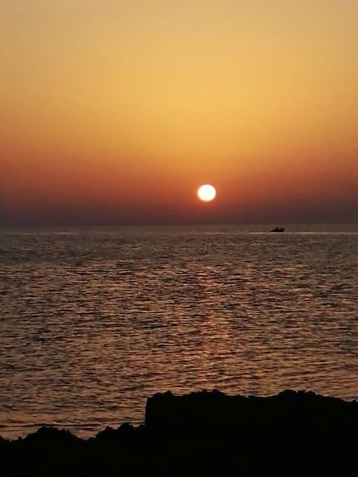 vista tramonto dal nostro monovano