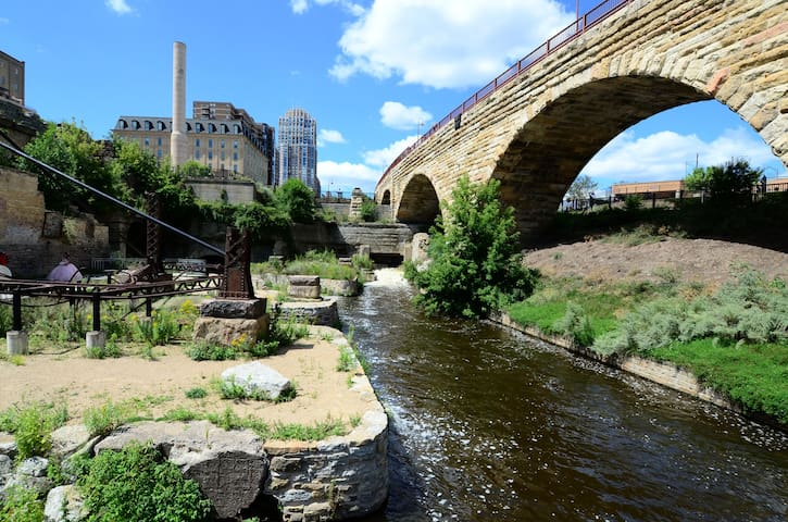 Check out the Famous Stone Arch Bridge in Downtown & Mill District