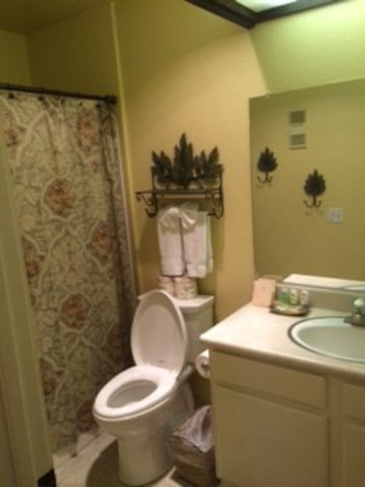 Bathroom with Vanity and tub