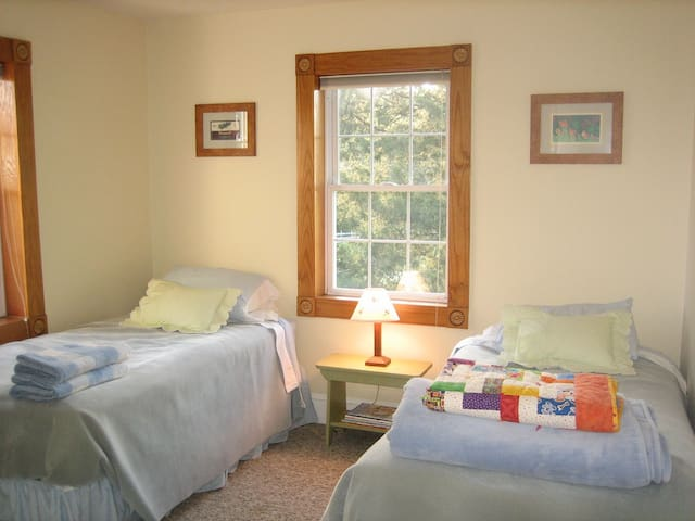 Second Bedroom, two twin beds. These may be joined into one king bed if requested at time of booking.