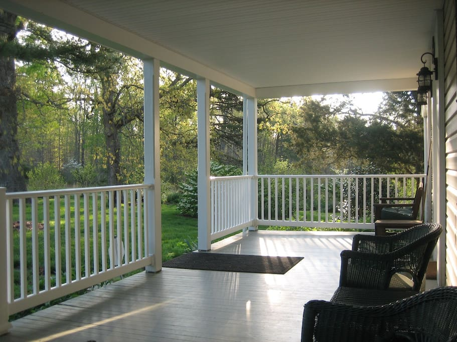 Enjoy relaxing on the shaded front porch