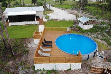 Vacation Home,Clewiston, ft. Myers 3/2 Pool&Wifi
