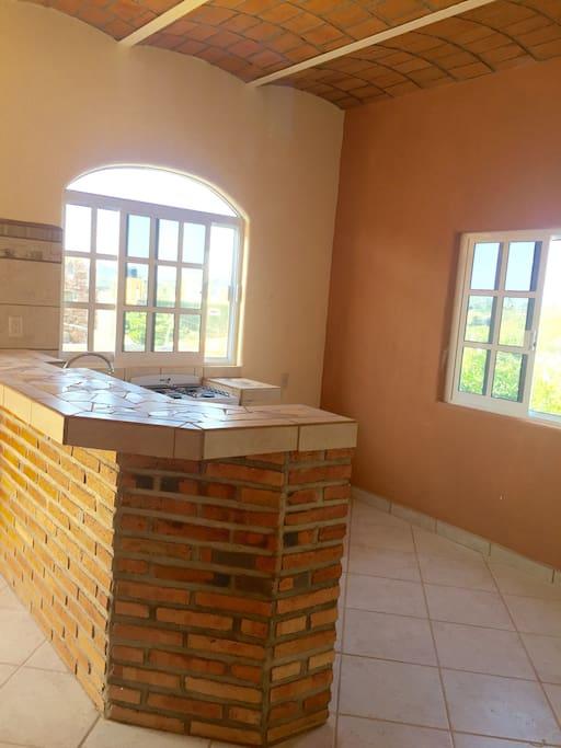 Open concept floor plan, new construction