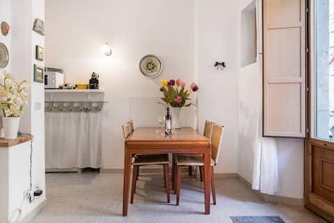 Уютен средиземноморски апартамент с градски изглед