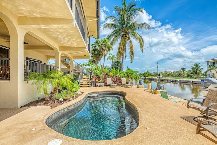 New listing! Waterfront home w/ ocean views, dock, & private outdoor pool