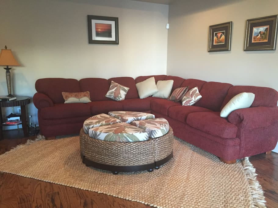 Living room sectional with pullout bed