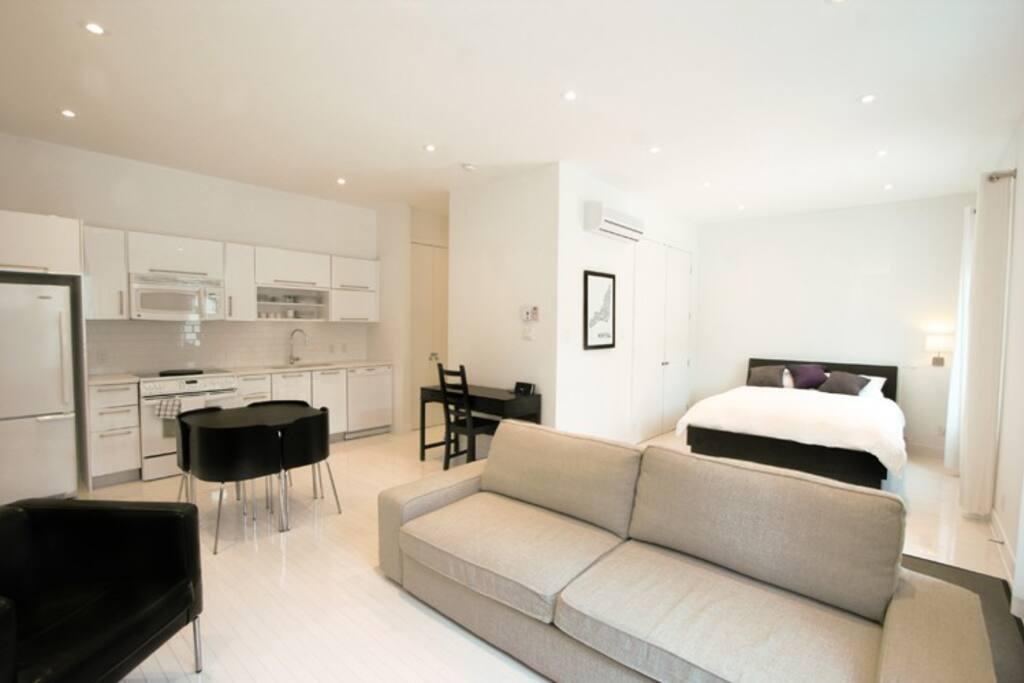 Mtl plateau mont royal studio loft appartements louer for Garage interieur a louer montreal