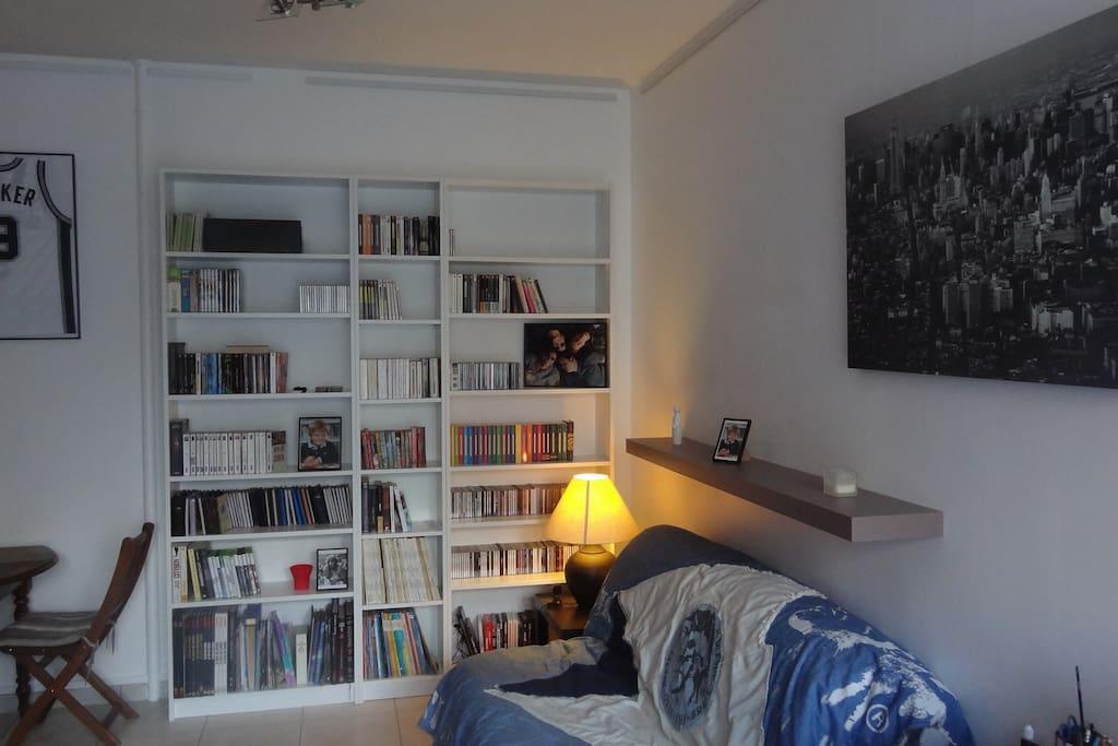 Canapé lit 2 places très large et confortable