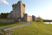 2-3 minute drive from the beautiful Ross castle